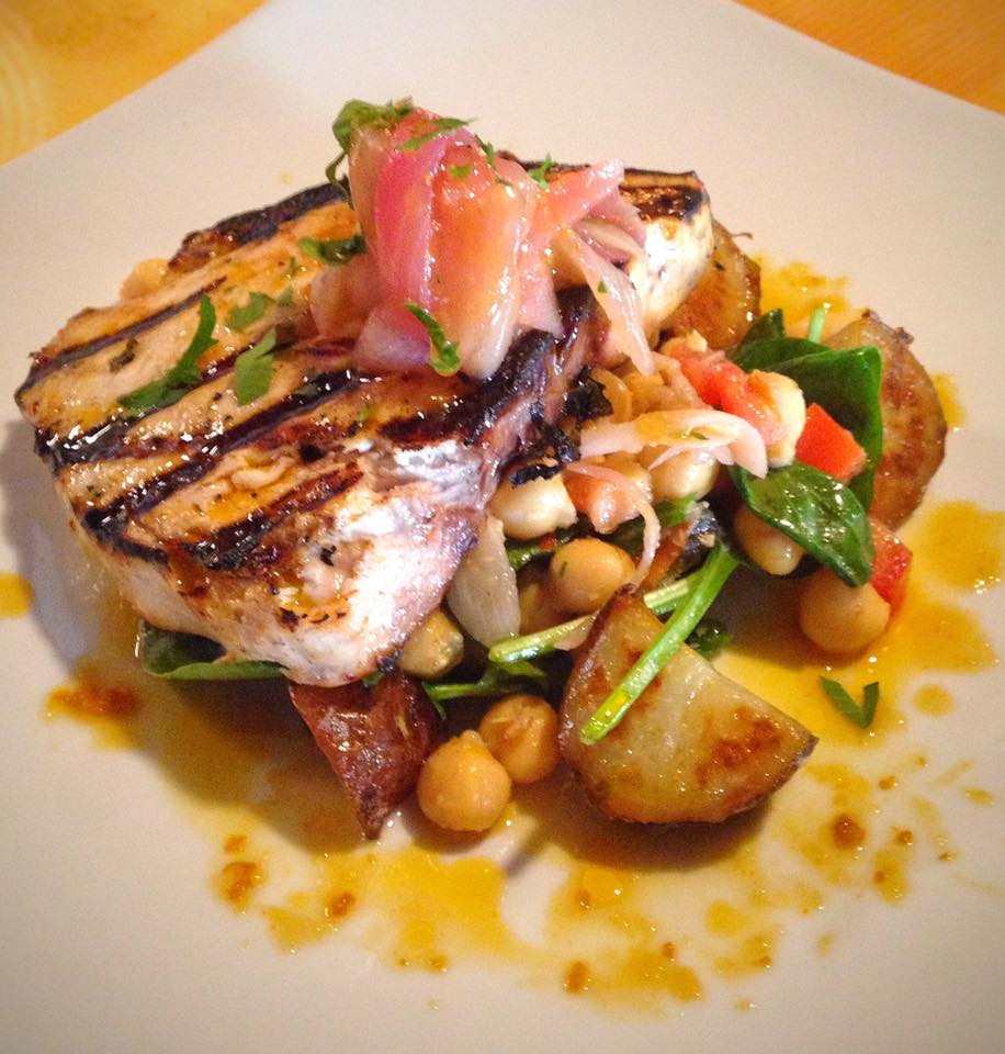 Grilled Swordfish marinated in Z'atar and Citrus